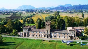 Veduta aerea del Castello carrarese di San Pelagio