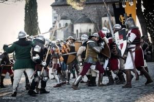Un momento della battaglia di Gorizia nell'edizione 2017