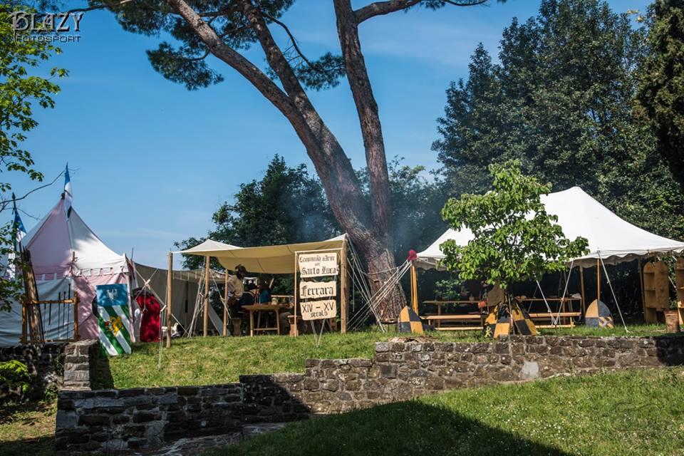 L'accampamento della Compagnia d'Arme del Santo Luca a Gorizia nel 2017